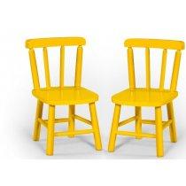 Par De Cadeiras Infantil Amarelo Disamoveis (Mesa Infantil)