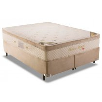 Cama Box+Colchão Queen Size Pallace Oni Side Pillow Herval 158x198x60