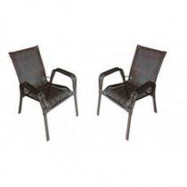 Par De Cadeiras De Varanda Tropical Artesanal Móveis Wj