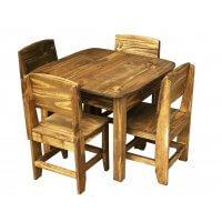 Jogo De Mesa Infantil Com 4 Cadeiras de Madeira Móveis Rio Negrinho