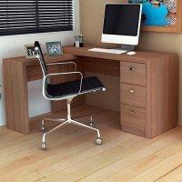 Mesa Para Escritorio Me4101 Amendoa Tecno Mobili