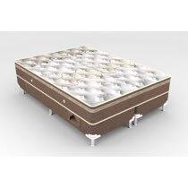 Cama Box + Colchão King Size Molejo Pocket White Newsonno 193x203x60