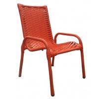 Cadeira Infantil De Varanda Cor Vermelho Wj Móveis