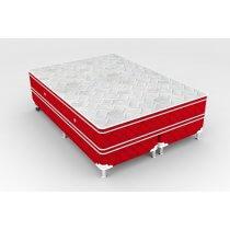 Cama Box + Colchão King Size Newsonno Molejo Pocket Glamour 193x203x60